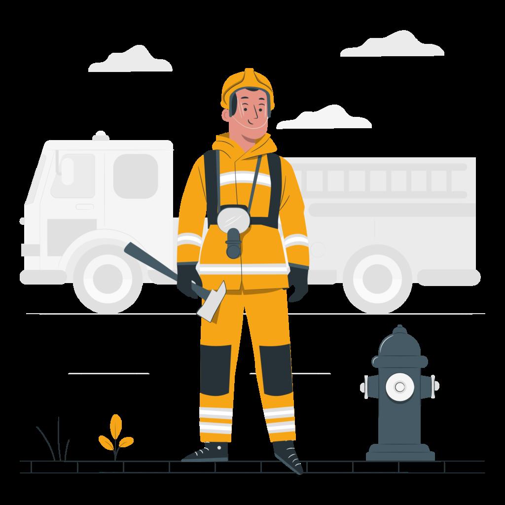 Illustration d'un pompier